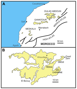 Mining industry of Morocco - Morocco's phosphate basins