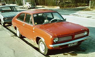 Morris Marina - 1973 Morris Marina 2-door coupé. This grille identifies the 1.3-litre version