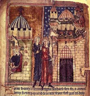 Châlus - Richard I of England lethally hurt in Châlus (right)