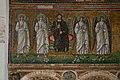 Mosaic of Christ Enthroned with Angels, Basilica of Sant'Apollinare Nuovo, Ravenna, Italy (6125352390).jpg