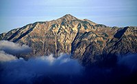 Mount Kasa from Mount Nishihotaka 1995-10-7.jpg