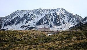 Three Holy Mountains - Image: Mount Tate and Hotel Tateyama