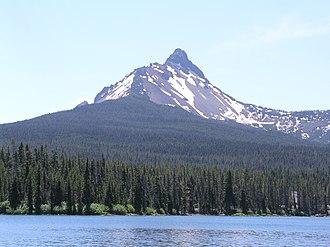 Mount Washington (Oregon) - Mount Washington as seen from Big Lake in the northwest