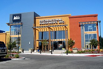 Recreational Equipment, Inc. - The REI store in Mountain View, California.