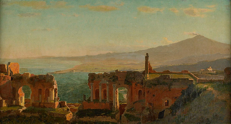 File:Mt. Aetna from Taormina by William Stanley Haseltine.jpg