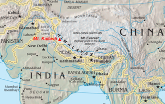 Indus-Yarlung suture zone - Location of Mt. Kailash. Indus-Yarlung Zangbo suture zone, the Yarlung Tsangpo River is sometimes called upper Brahmaputra River.