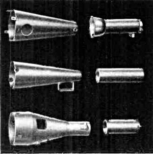 Mu-metal - Mu-metal shields for cathode ray tubes (CRTs) used in oscilloscopes, from a 1945 electronics magazine