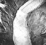 Muir Glacier, tidewater glacier terminus and iceberg filled inlet, June 21, 1978 (GLACIERS 5730).jpg