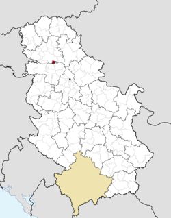 Location of the municipality of Sremski Karlovci within Serbia