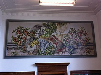 Monett, Missouri - WPA mural, Products of Missouri by James McCreery, in Monnett post office