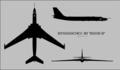 Myasishchev 3M Bison-B three-view silhouette.png