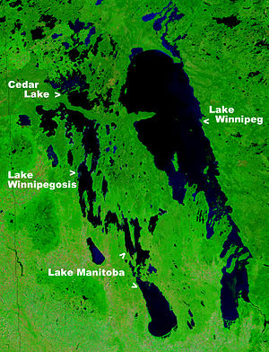 Lake Winnipeg - NASA image of Lake Winnipeg