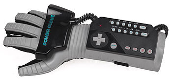 English: An American Power Glove controller fo...