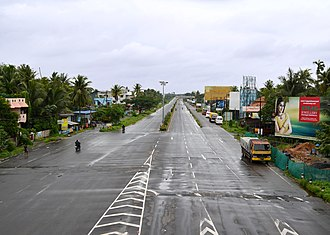 Kumbalam, Ernakulam - NH 47 view from Kumbalam