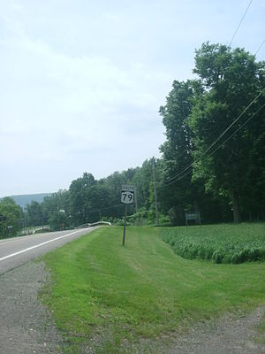 New York State Route 79 - NY 79 heading southbound through Windsor from the intersection with Broome CR 16