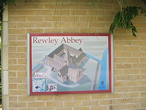 Rewley Abbey - An artist's impression of Rewley Abbey.