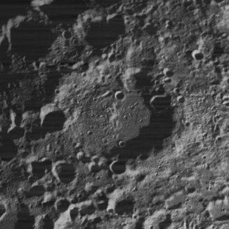 Nansen (lunar crater) - Lunar Orbiter 4 image, facing east