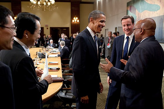 Naoto Kan Barack Obama David Cameron and Jacob Zuma 20100625
