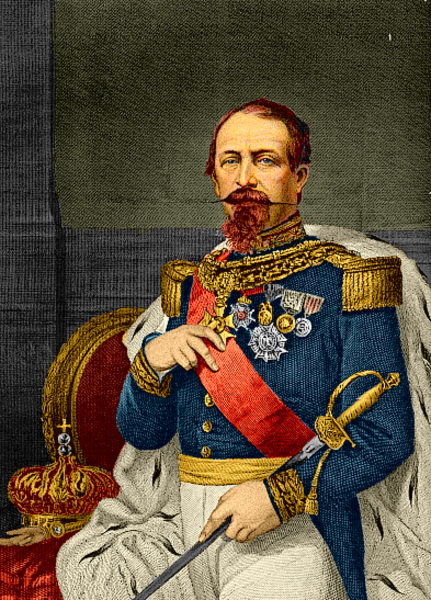 Napoleon III painting uploaded to Wikimedia Commons under the public domain