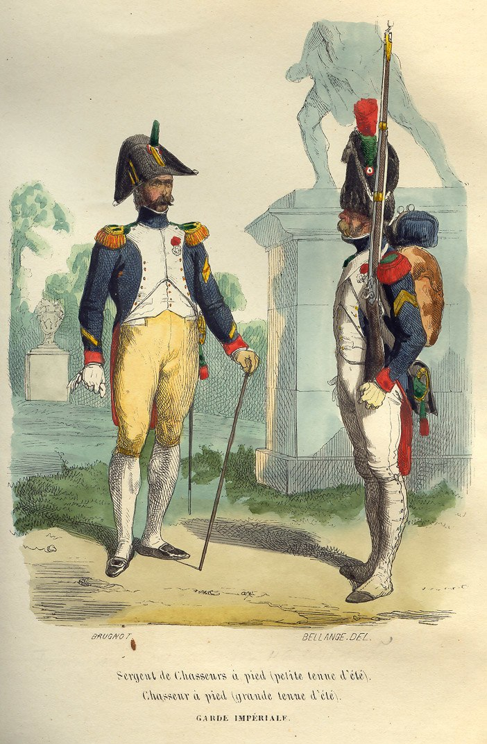 Napoleon Guard Chasseurs by Bellange
