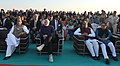 Narendra Modi witnessing the camel show and cultural performance, on the sidelines of the DGP conference, at White Rann, Dhordo, Gujarat. The Union Home Minister, Shri Rajnath Singh, the Minister of State for Home Affairs.jpg