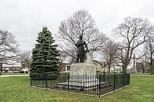Central Square Historic District (Waltham, Massachusetts) - Image: Nathaniel P. Banks statue on Waltham Common Massachusetts