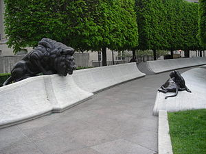 National Law Enforcement Officers Memorial - Image: National Law Enforcement Officers Memorial Lion