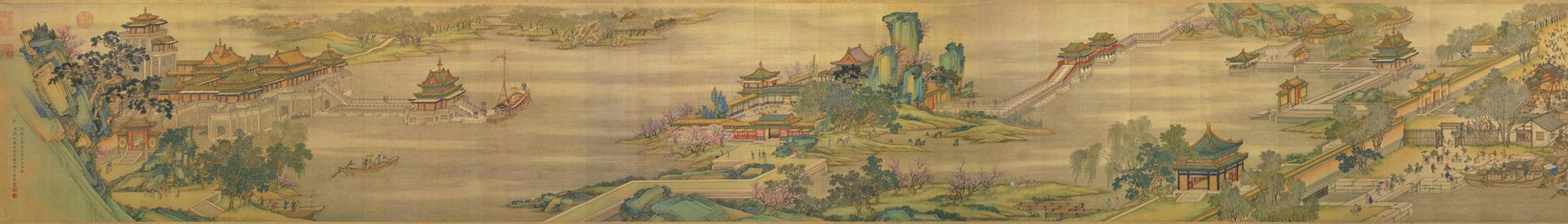 National Palace Museum (Taipei) banner Along the River (painting).jpg