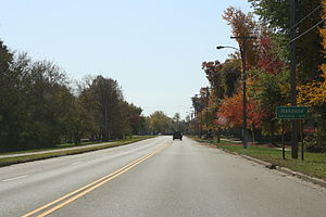 Nekoosa, Wisconsin - Image: Nekoosa Wisconsin Sign WIS73