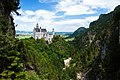 Neuschwanstein Castle, view from Marienbrucke (Marie's Bridge). - panoramio.jpg