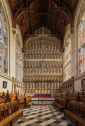 Reredos - Image: New College Chapel Interior 2, Oxford, UK Diliff