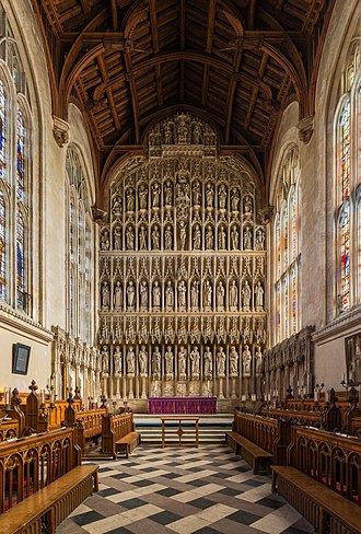 New College, Oxford - The altar and reredos
