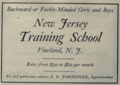 """New Jersey Training School (""""American medical directory"""", 1906 advert).png"""