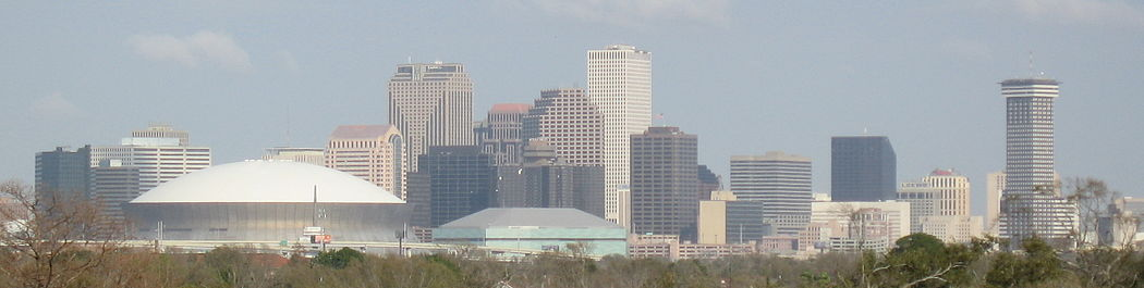 Skyline of the Central Business District of New Orleans New Orleans Skyline from Uptown.jpg