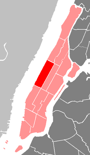 Manhattan Community Board 7 - The location of Manhattan Community Board 7 in New York City.
