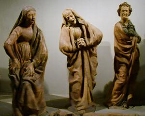 Niccolò dell'Arca - Image: Niccolò dell'arca, Compianto sul Cristo morto, Chiesa di S. Maria della vita, Bologna 08