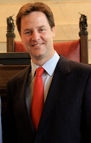 Alliance of Liberals and Democrats for Europe Party - Nick Clegg.