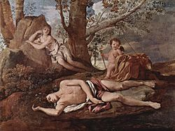 Nicolas Poussin: Echo and Narcissus
