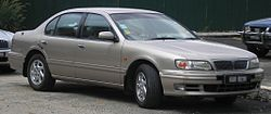 Nissan Cefiro (second generation, first facelift) (front), Serdang.jpg