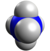 Nitrogen pentahydride possible structure 3D-vdW.png