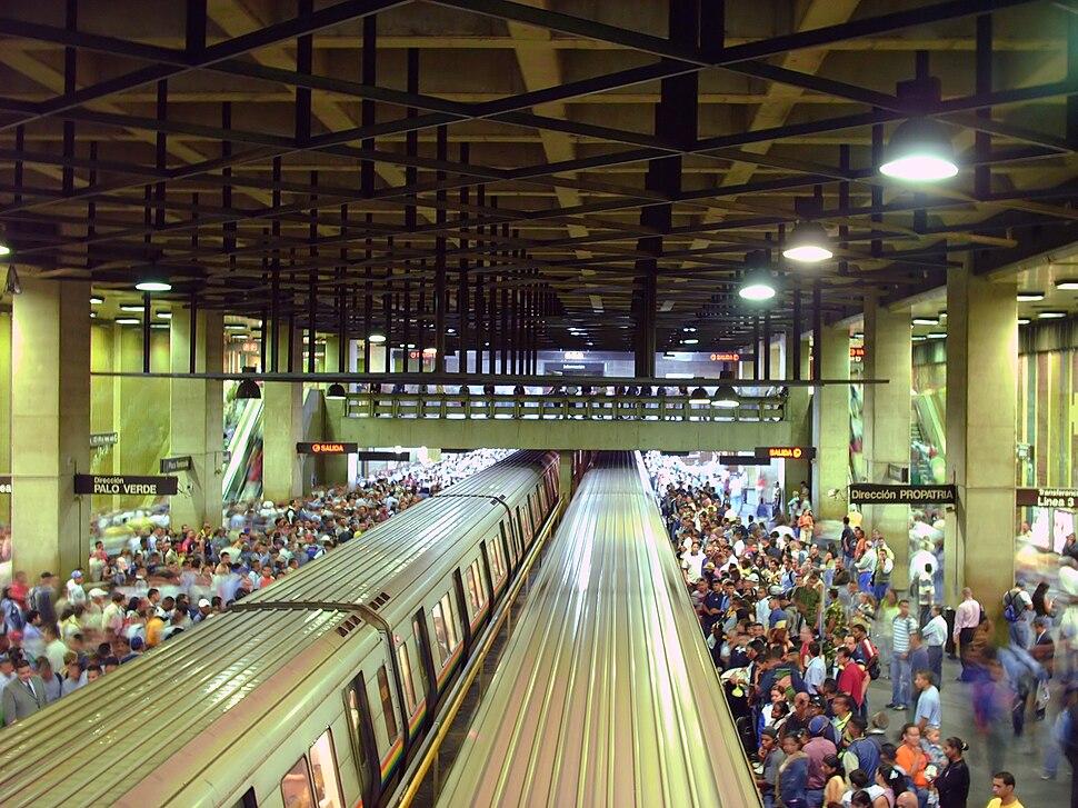Nivel de los andenes (estación Plaza Venezuela, Caracas Metro)