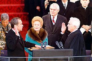 English: President Richard Nixon is sworn in f...
