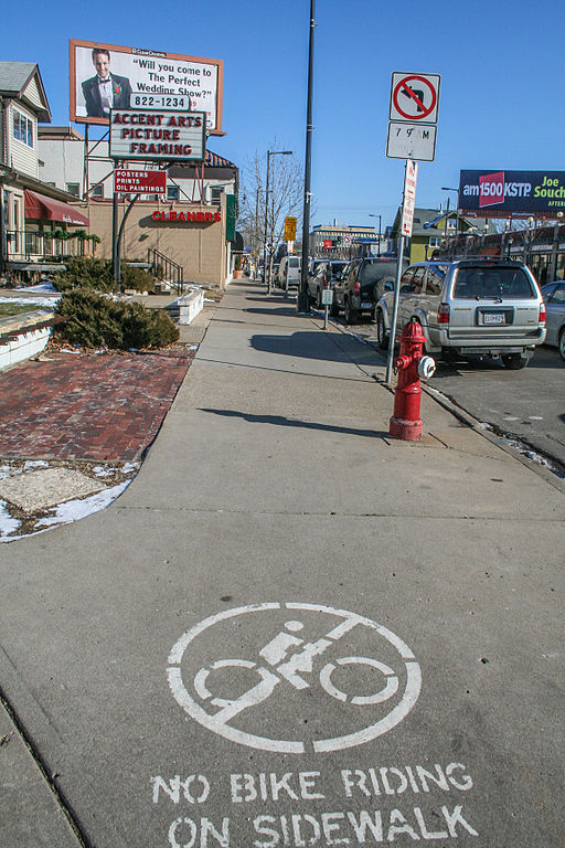File:No Bike Riding on Sidewalk (17056924936) jpg