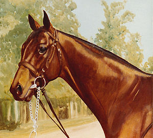 Canadian Horse Racing Hall of Fame - Norcliffe, painted by Bob Demuyser (1920-2003)