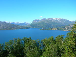 Rana, Norway - The Sjona fjord, western part of Rana municipality.