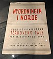 "Norway's WW2 Resistance Museum, Oslo (Hjemmefrontmuseet). Nyordningen i Norge, book with speech on ""Nationsozialistische Neuordnung"" by Josef Terboven 1940-09-25. Photo 2017-11-30.jpg"