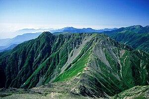 Mount Nōtori - Image: Noutoridake from ainodake 1996 7 29