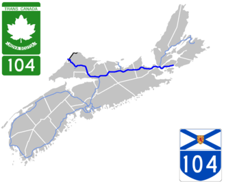 Nova Scotia Highway 104 - Image: Nova Scotia 104 Map