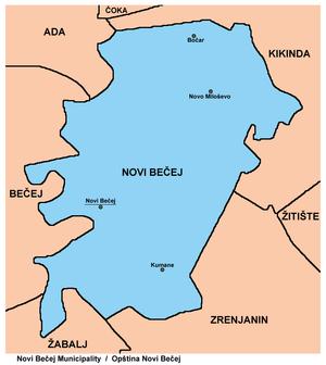 novi becej mapa Opština Novi Bečej   Wikipedia novi becej mapa