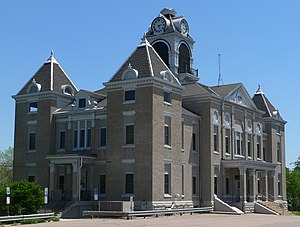 National Register of Historic Places listings in Nuckolls County, Nebraska - Image: Nuckolls County Courthouse from NW 2